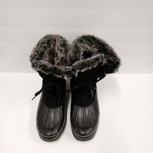 Bass alps Womens Sude Rubber Faux Fur Dick Boots